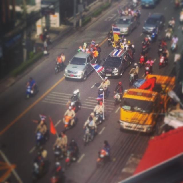 Автопробег демонстрантов